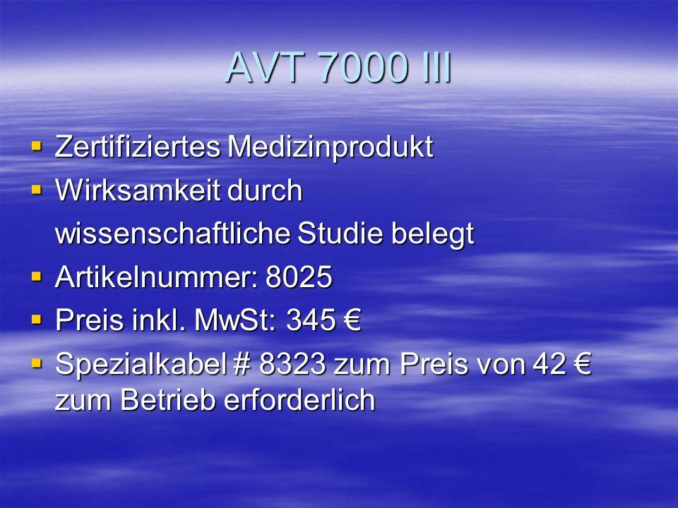 Im Lieferumfang sind enthalten: Audio-Video-Trainer AVT 7000 III Audio-Video-Trainer AVT 7000 III Netzteil zur Spannungsversorgung Netzteil zur Spannu