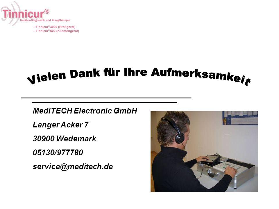 MediTECH Electronic GmbH Langer Acker 7 30900 Wedemark 05130/977780 service@meditech.de