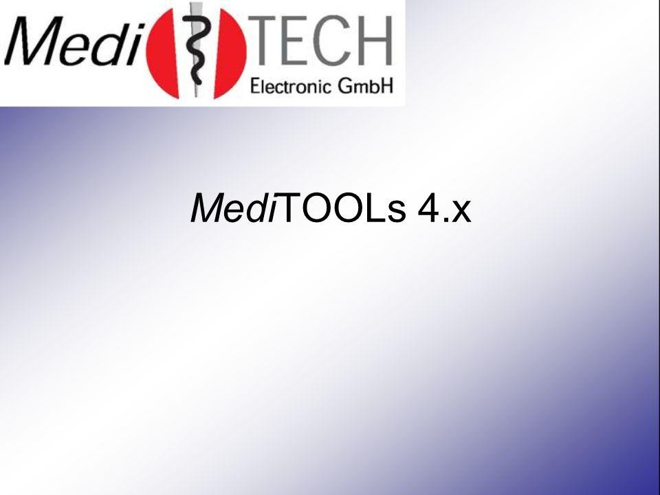 Bedienung noch komfortabler Durch integrierte Schnellstart-Funktionen werden besonders häufig benutzte Elemente der MediTOOLs wie das Warnke ® -Prüfprotokoll oder auch das Berichtswesen leichter zugänglich.