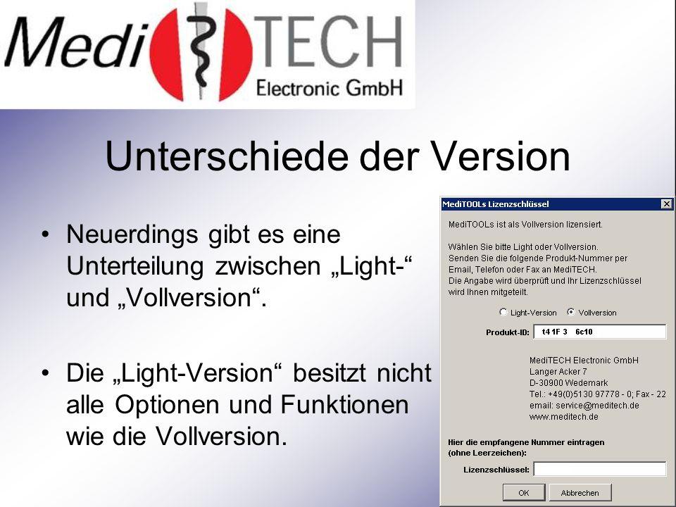 Unterschiede der Version Neuerdings gibt es eine Unterteilung zwischen Light- und Vollversion.
