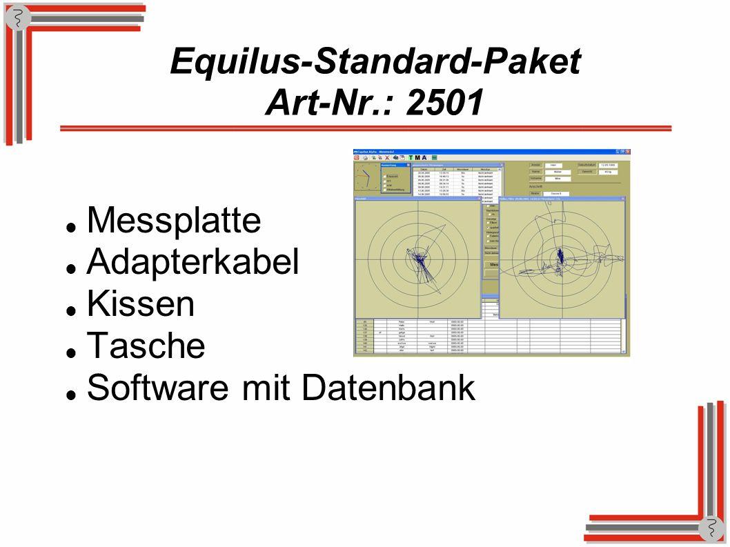 Equilus-Standard-Paket Art-Nr.: 2501 Messplatte Adapterkabel Kissen Tasche Software mit Datenbank