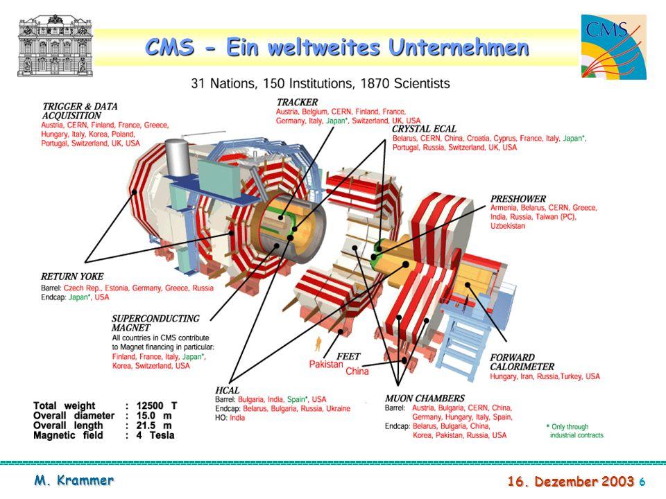 7 16. Dezember 2003 M. Krammer CMS Zusammenbau