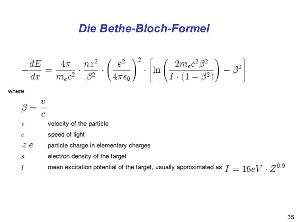 35 Die Bethe-Bloch-Formel