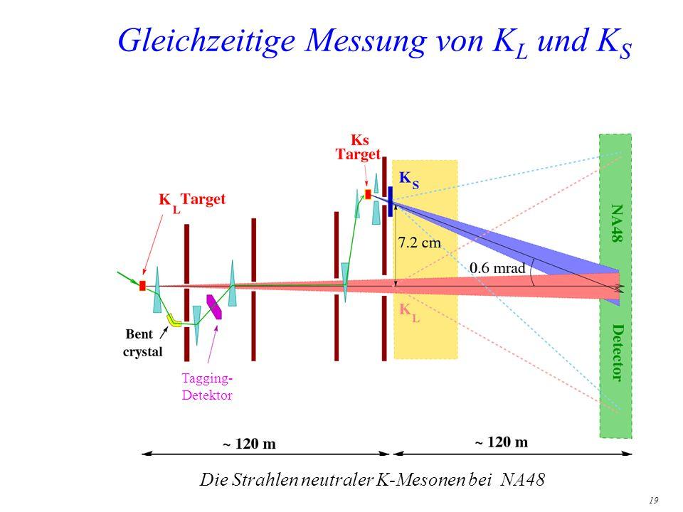 19 Gleichzeitige Messung von K L und K S Die Strahlen neutraler K-Mesonen bei NA48 Tagging- Detektor