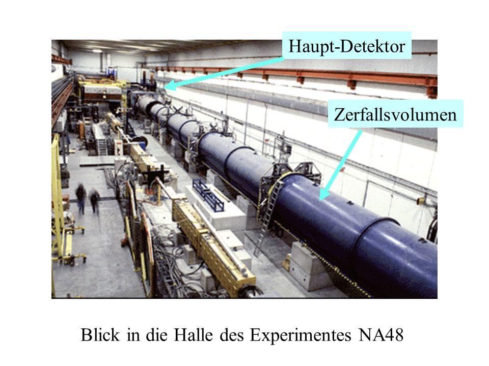 Blick in die Halle des Experimentes NA48 Zerfallsvolumen Haupt-Detektor