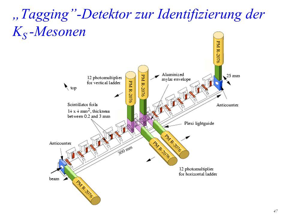 47 Tagging-Detektor zur Identifizierung der K S -Mesonen