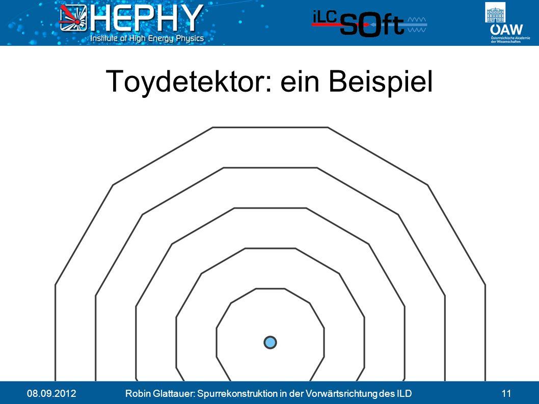 08.09.2012Robin Glattauer: Spurrekonstruktion in der Vorwärtsrichtung des ILD11 Toydetektor: ein Beispiel