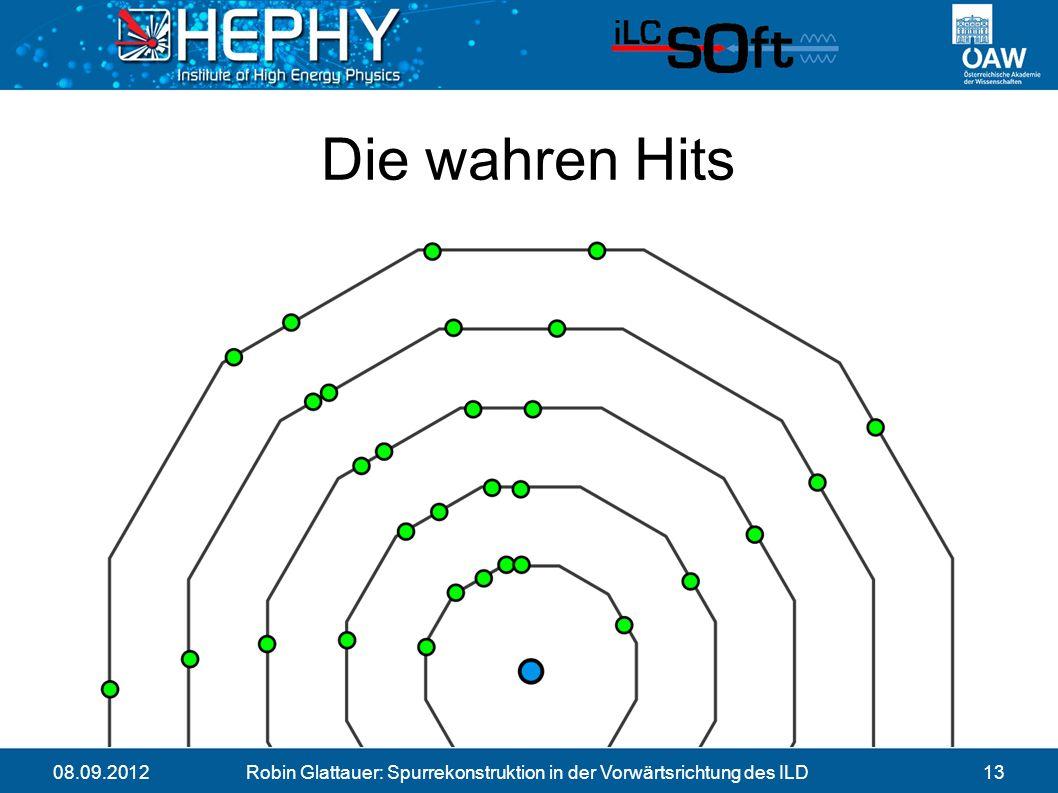 08.09.2012Robin Glattauer: Spurrekonstruktion in der Vorwärtsrichtung des ILD13 Die wahren Hits