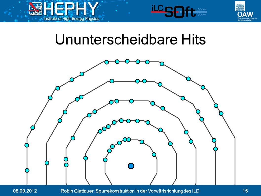 08.09.2012Robin Glattauer: Spurrekonstruktion in der Vorwärtsrichtung des ILD15 Ununterscheidbare Hits
