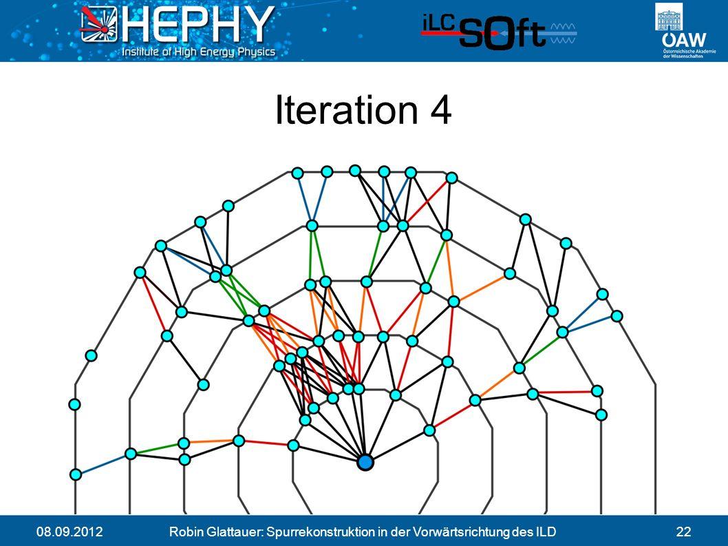 08.09.2012Robin Glattauer: Spurrekonstruktion in der Vorwärtsrichtung des ILD22 Iteration 4