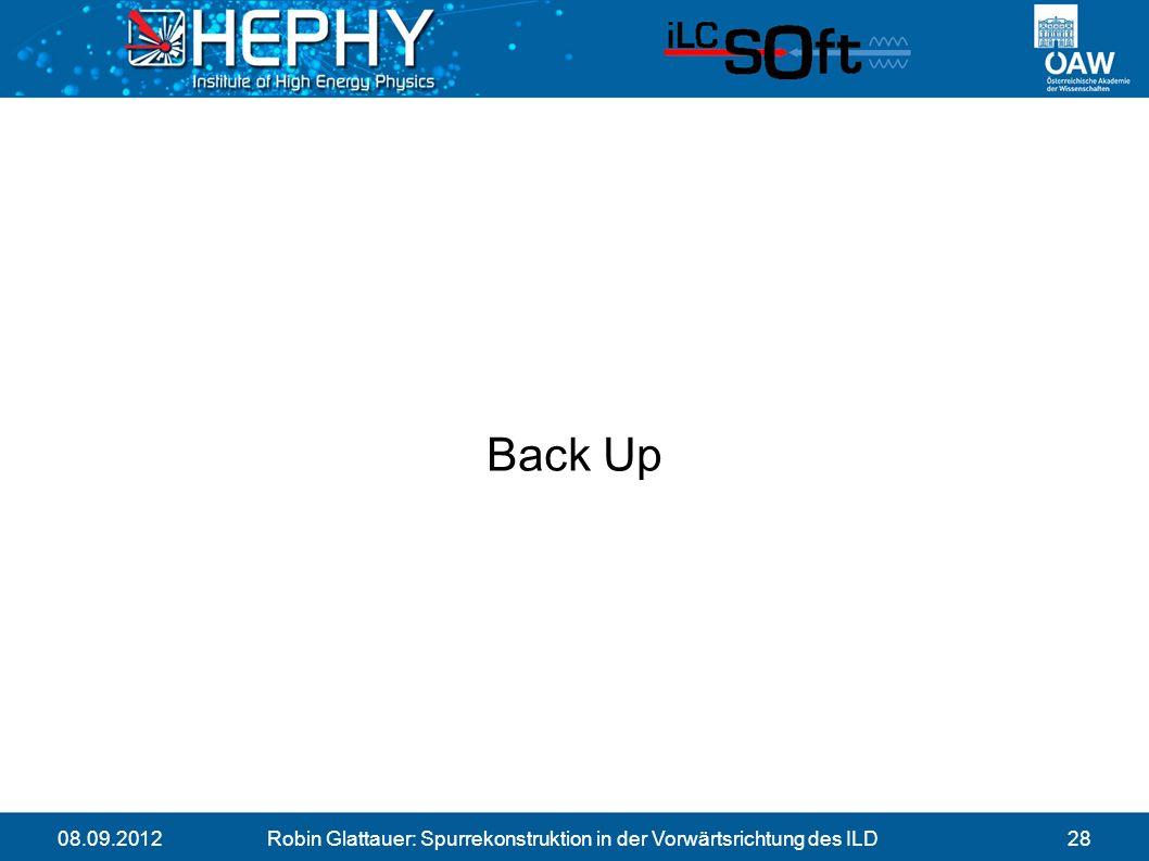 08.09.2012Robin Glattauer: Spurrekonstruktion in der Vorwärtsrichtung des ILD28 Back Up