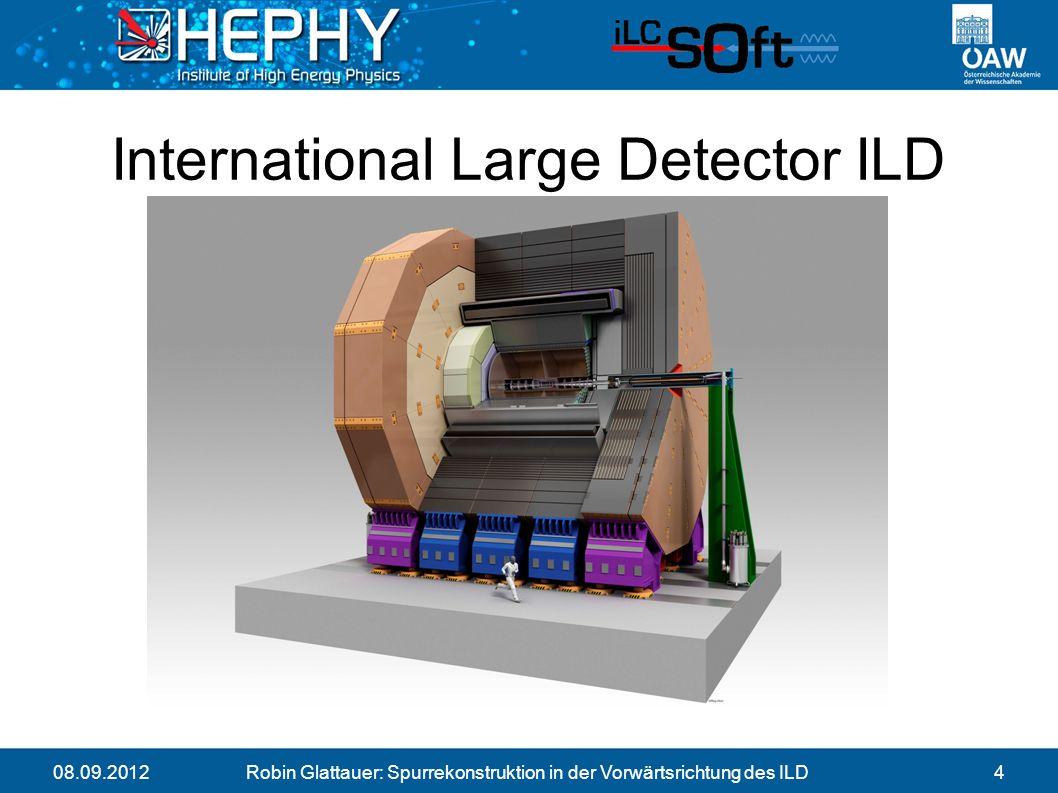 08.09.2012Robin Glattauer: Spurrekonstruktion in der Vorwärtsrichtung des ILD4 International Large Detector ILD