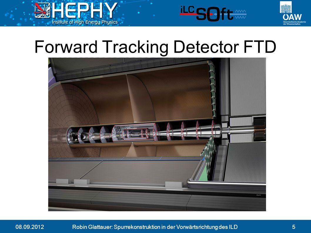 08.09.2012Robin Glattauer: Spurrekonstruktion in der Vorwärtsrichtung des ILD5 Forward Tracking Detector FTD