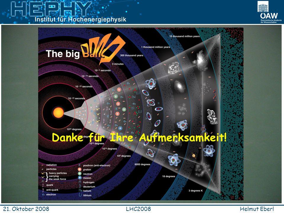 Helmut EberlLHC200821. Oktober 2008 Danke für Ihre Aufmerksamkeit!