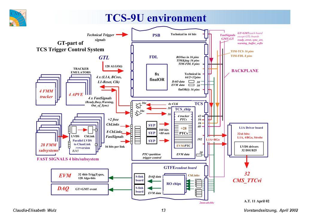 Vorstandssitzung, April 2002 Claudia-Elisabeth Wulz13 TCS-9U environment