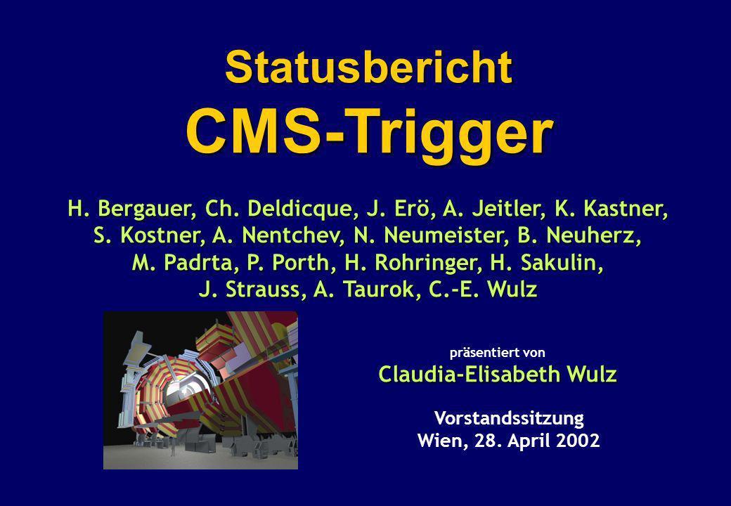 Vorstandssitzung, April 2003 C.-E. Wulz12 SUSY-Parameter tan = 10
