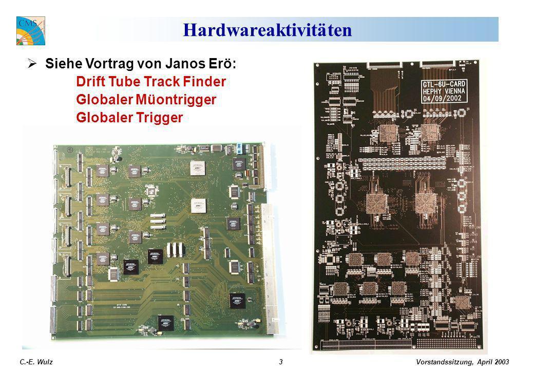 Vorstandssitzung, April 2003 C.-E. Wulz4 DAQ/HLT TDR