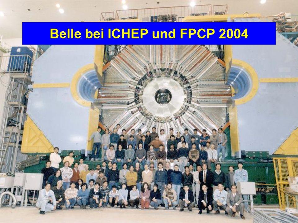 Christoph SchwandaHEPHY Vorstand, Dez 2-3, 2004 - Seite 10 Belle bei ICHEP und FPCP 2004