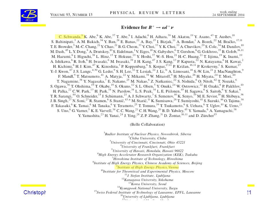 Christoph SchwandaHEPHY Vorstand, Dez 2-3, 2004 - Seite 21
