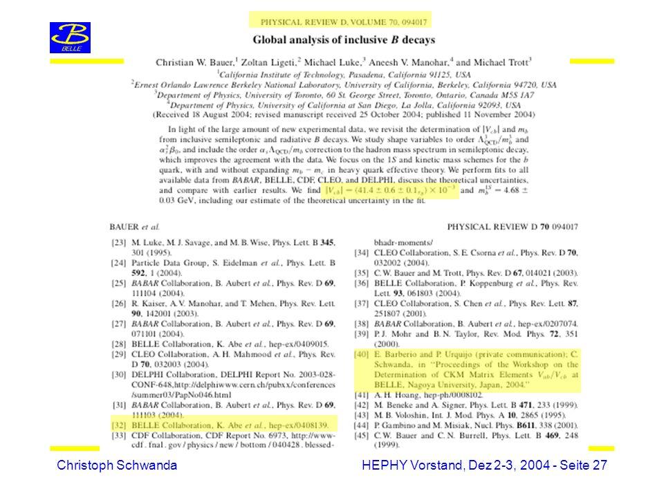 Christoph SchwandaHEPHY Vorstand, Dez 2-3, 2004 - Seite 27