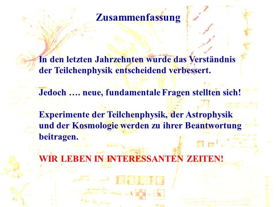 Wien, Mai 2005 C.-E. Wulz60 Zusammenfassung In den letzten Jahrzehnten wurde das Verständnis der Teilchenphysik entscheidend verbessert. Jedoch …. neu