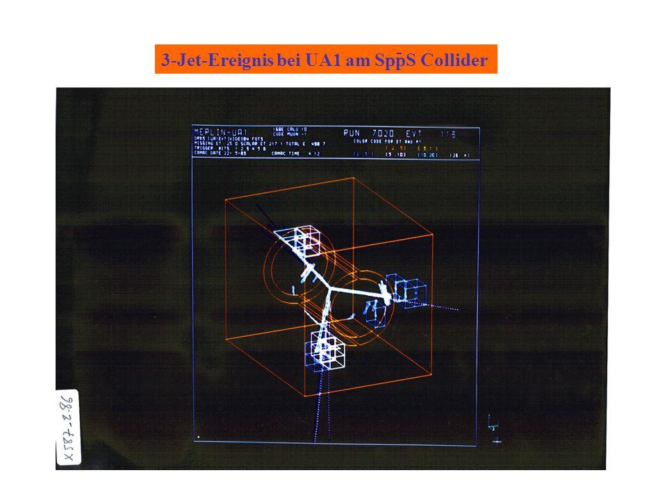 3-Jet-Ereignis bei UA1 am SppS Collider -