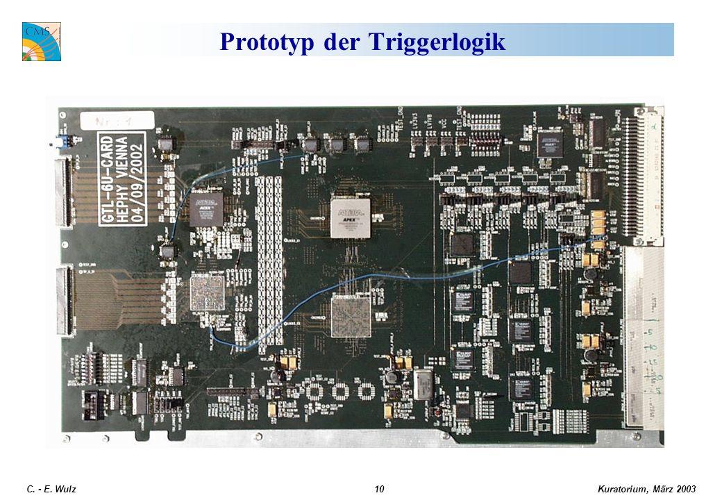 Kuratorium, März 2003 C. - E. Wulz10 Prototyp der Triggerlogik