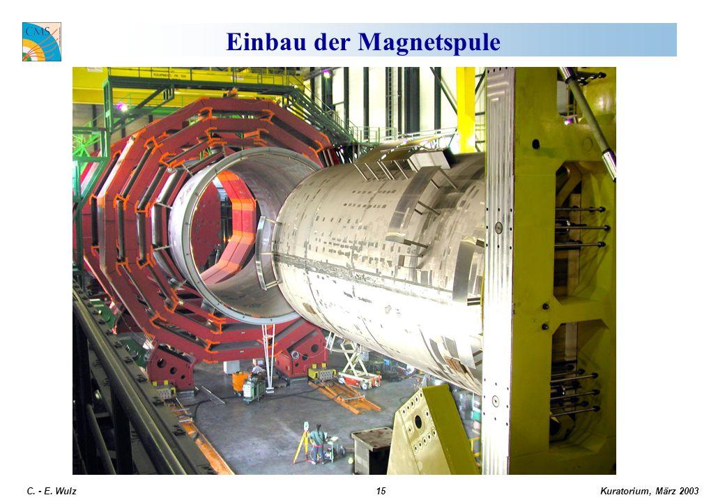 Kuratorium, März 2003 C. - E. Wulz15 Einbau der Magnetspule