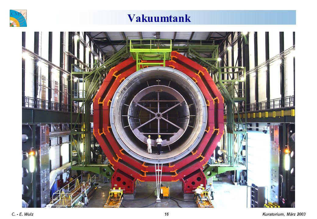 Kuratorium, März 2003 C. - E. Wulz16 Vakuumtank