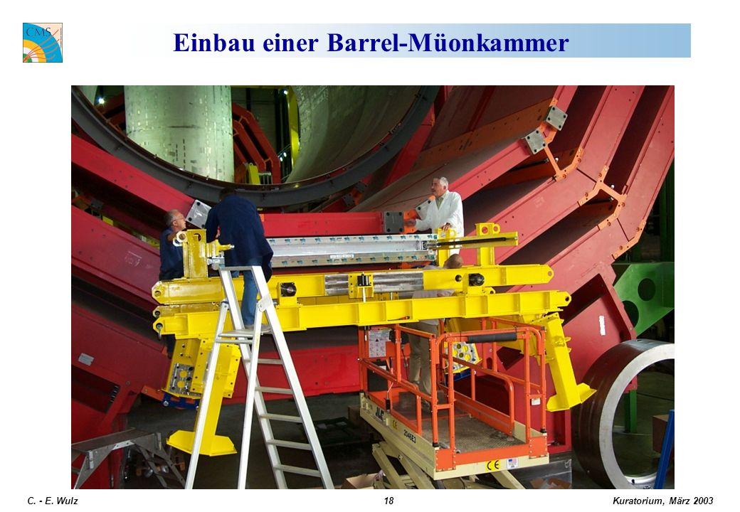 Kuratorium, März 2003 C. - E. Wulz18 Einbau einer Barrel-Müonkammer