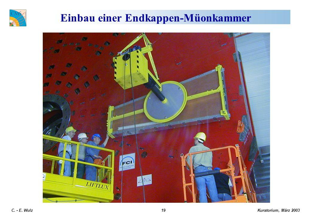 Kuratorium, März 2003 C. - E. Wulz19 Einbau einer Endkappen-Müonkammer