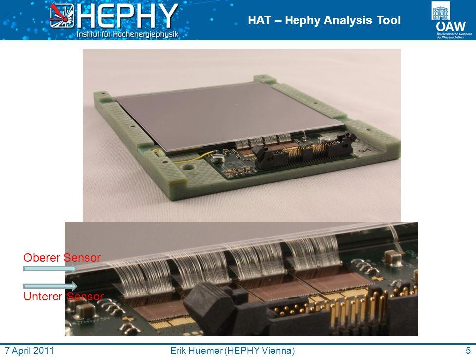 HAT – Hephy Analysis Tool Danke! 6Erik Huemer (HEPHY Vienna)7 April 2011