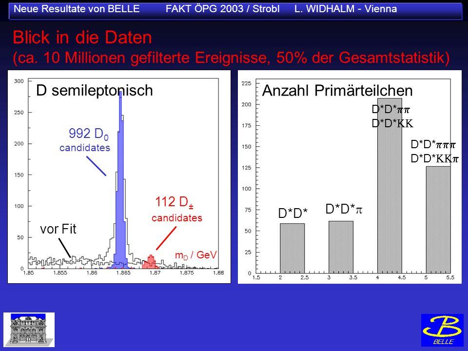 Neue Resultate von BELLE FAKT ÖPG 2003 / Strobl L. WIDHALM - Vienna Blick in die Daten (ca. 10 Millionen gefilterte Ereignisse, 50% der Gesamtstatisti