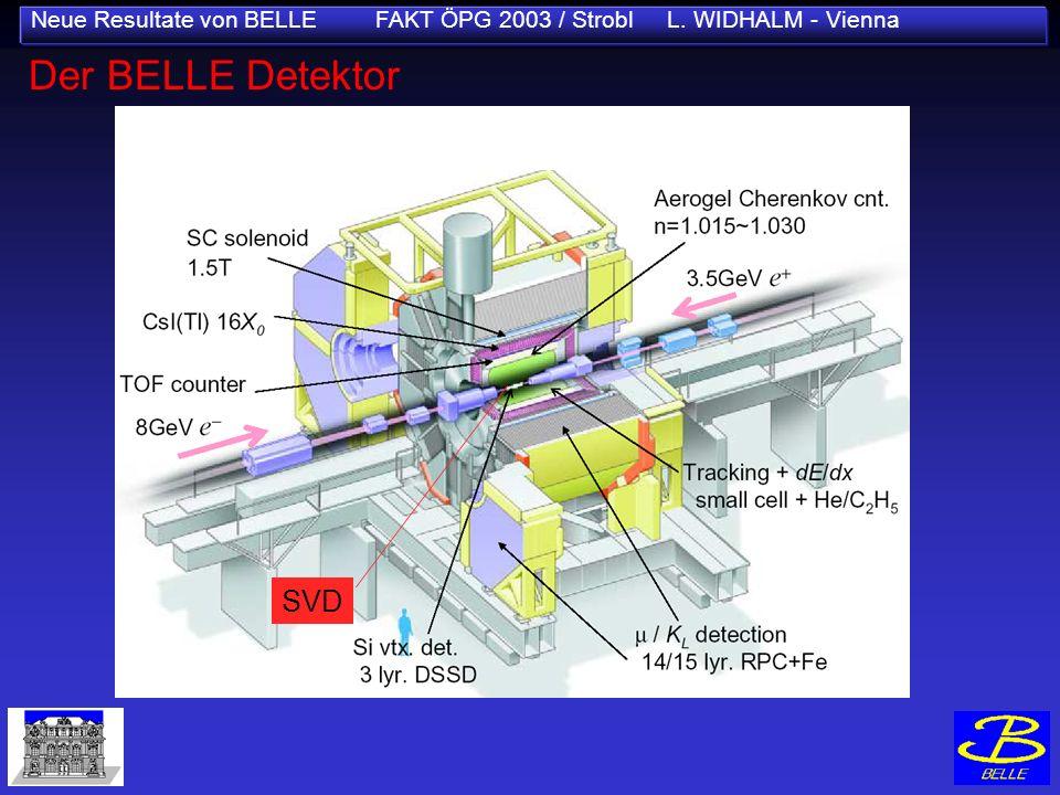 Neue Resultate von BELLE FAKT ÖPG 2003 / Strobl L. WIDHALM - Vienna SVD Der BELLE Detektor