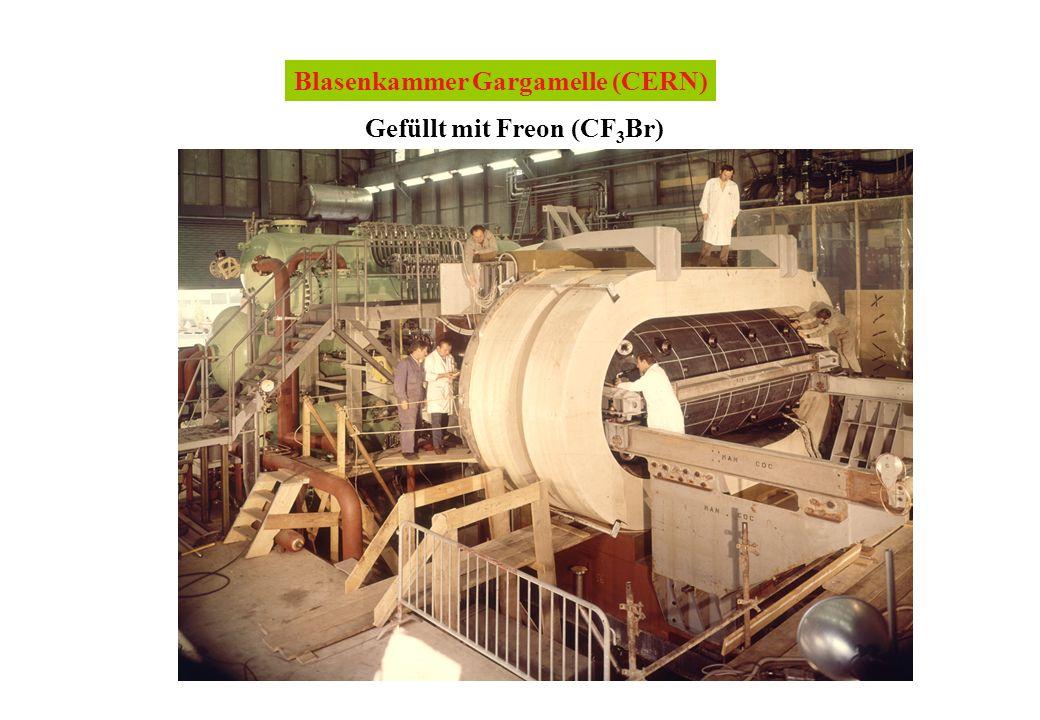 Blasenkammer Gargamelle (CERN) Gefüllt mit Freon (CF 3 Br)