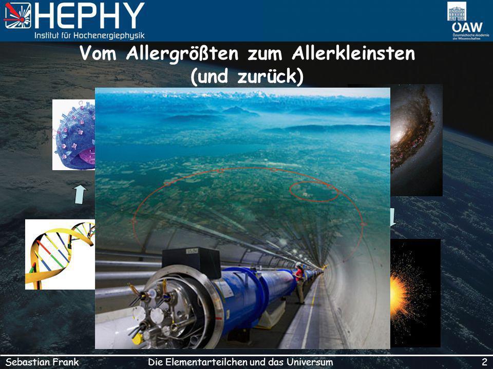 2Die Elementarteilchen und das UniversumSebastian Frank Vom Allergrößten zum Allerkleinsten (und zurück)