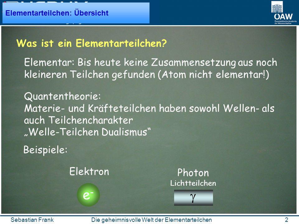 2 Sebastian Frank Was ist ein Elementarteilchen.