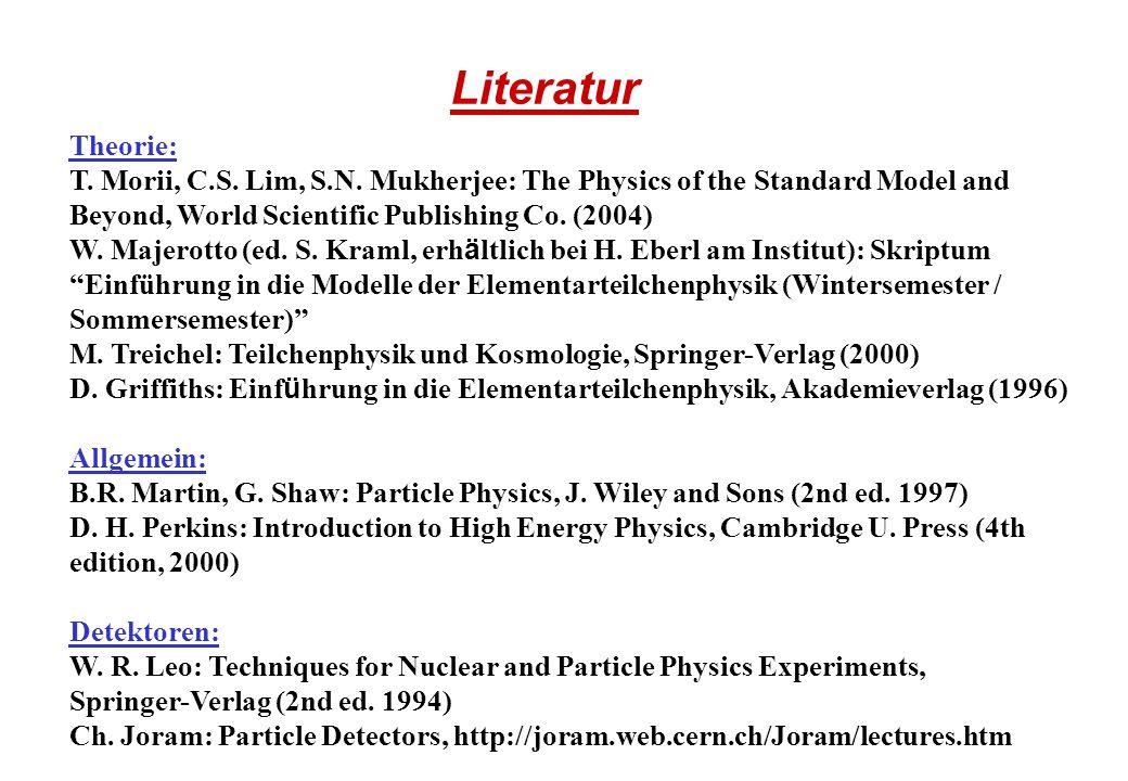 Webseiten Einführungen in die Teilchenphysik: http://www.cpepweb.org/particles.html http://particleadventure.org/particleadventure/index.html http://hepwww.rl.ac.uk/Pub/Phil/ppintro/ppintro.html http://www2.slac.stanford.edu/vvc/Default.htm http://www.teilchen.at Für Physiker/Studenten: http://humanresources.web.cern.ch/HumanResources/external/training/ACAD/acad0.
