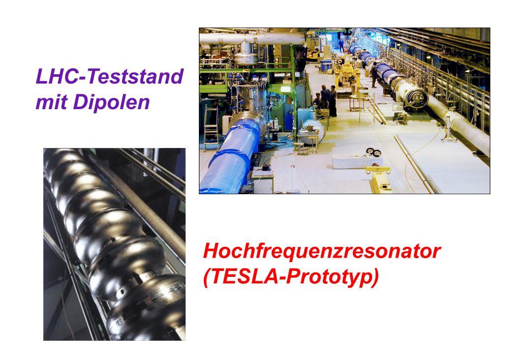 LHC-Teststand mit Dipolen Hochfrequenzresonator (TESLA-Prototyp)