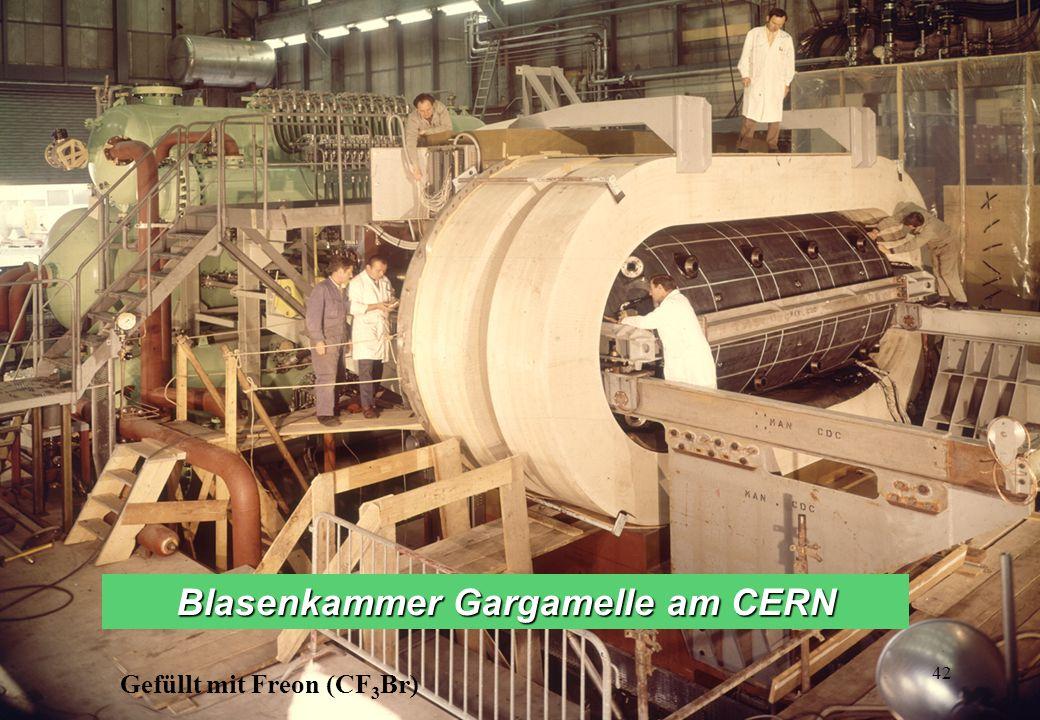 Gefüllt mit Freon (CF 3 Br) Blasenkammer Gargamelle am CERN 42