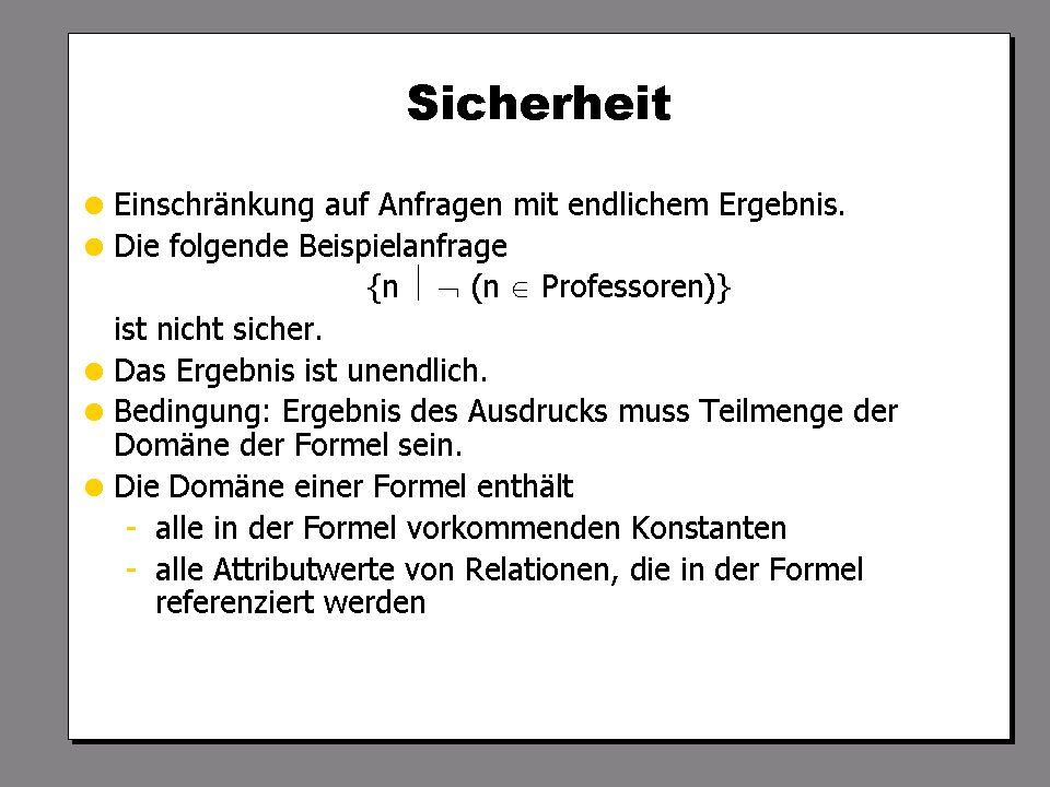WS 2009/10 Datenbanksysteme Fr 15:15 – 16:45 R 0.006 © Bojan Milijaš, 16.10.2009Vorlesung #3 - Das relationale Modell (2)22