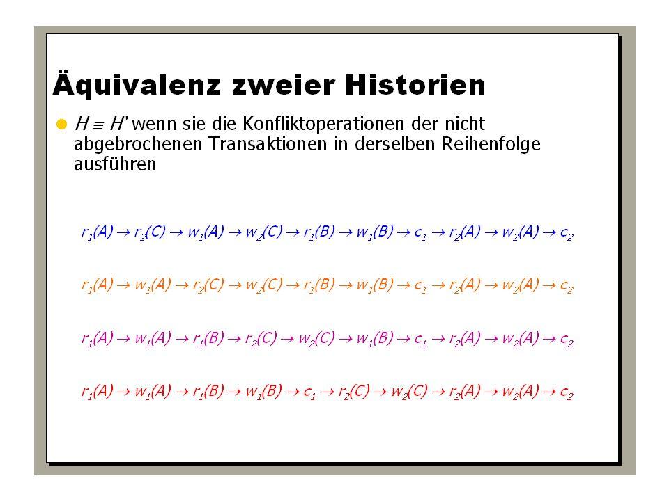 WS 2009/10 Datenbanksysteme Fr 15:15 – 16:45 R 0.006 © Bojan Milijaš, 15.01.2010Vorlesung #12 - Mehrbenutzersynchronisation24