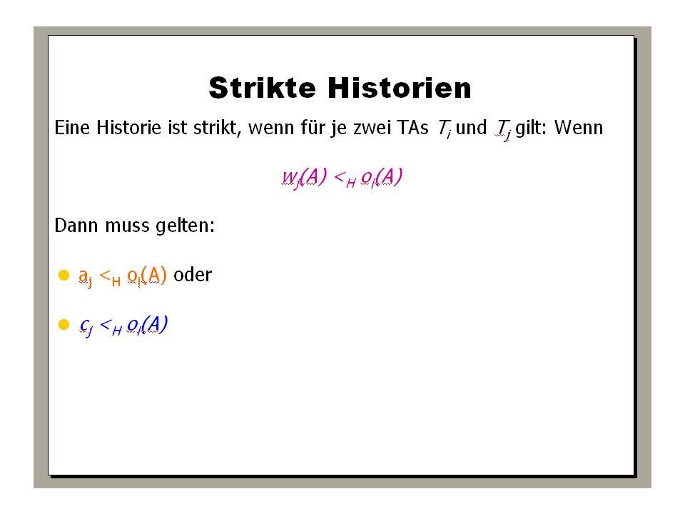WS 2009/10 Datenbanksysteme Fr 15:15 – 16:45 R 0.006 © Bojan Milijaš, 15.01.2010Vorlesung #12 - Mehrbenutzersynchronisation32