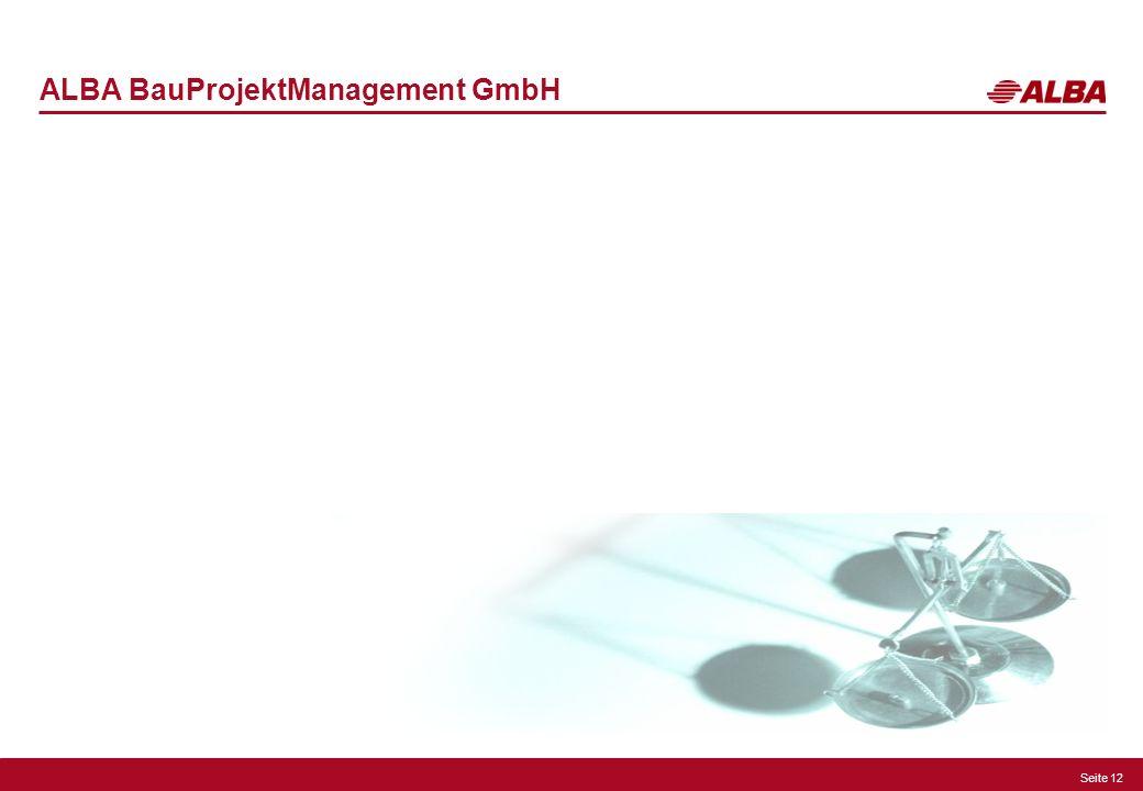 Seite 12 ALBA BauProjektManagement GmbH