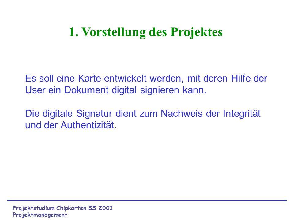 Projektstudium Chipkarten SS 2001 Schlüsselverwaltung - PC seitig Ablauf: Mit den Methoden getPublic und getPrivate der Klasse RSAKeyPairGenerator werden die jeweils zusammengehörenden Private und Public Keys erzeugt.
