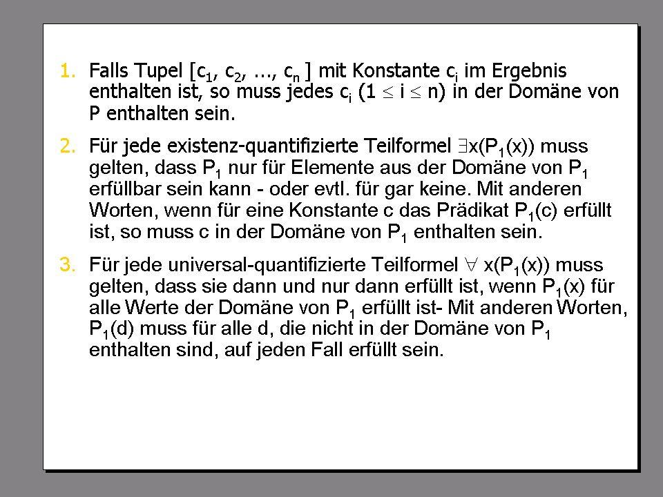 SS 2004 Datenbanken 4W Mi 13:30 – 15:00 G 2.30 © Bojan Milijaš, 14.04.2004Vorlesung #5 - Relationale Anfragesprachen26