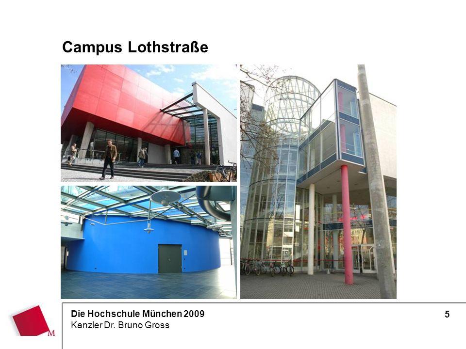 Die Hochschule München 2009 Kanzler Dr. Bruno Gross 5 Campus Lothstraße