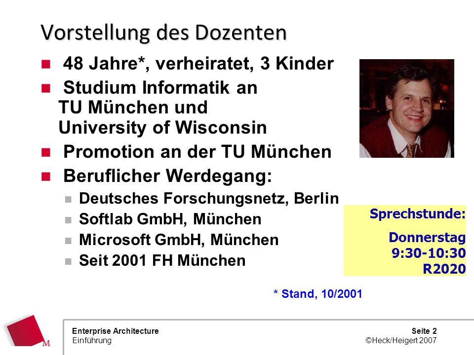 Prof. Dr. Johannes Heigert Christian Heck, Accenture Enterprise Architecture