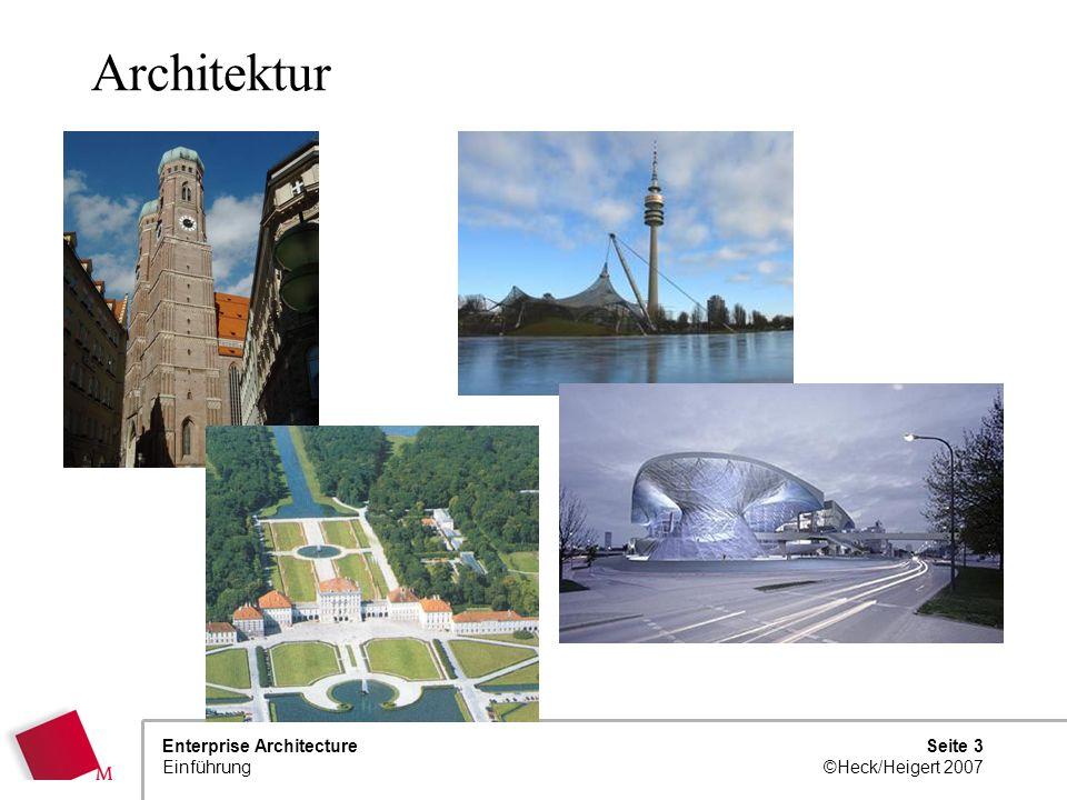Seite 2 ©Heck/Heigert 2007 Enterprise Architecture Einführung Vorstellung des Dozenten 48 Jahre*, verheiratet, 3 Kinder Studium Informatik an TU Münch
