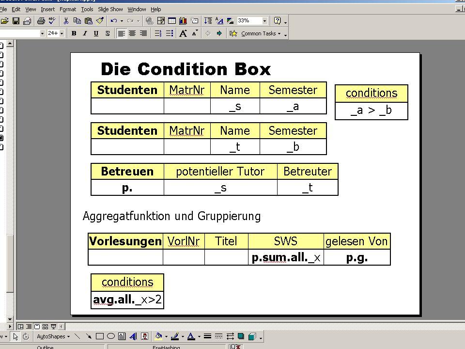 WS 2007/08 Datenbanksysteme Mi 17:00 – 18:30 R 1.007 © Bojan Milijaš, 28.11.2007Vorlesung #8 - Wiederholung Referentielle Integrität / Embedded SQL 30
